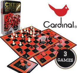 18 Units of Cardinal Board Game Sets - Dominoes & Chess