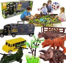 6 Units of Twelve Piece Dinosaur Task Force Games - Action Figures & Robots