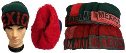 "36 Units of ""Mexico"" Plush Lining Winter Hat - Winter Beanie Hats"