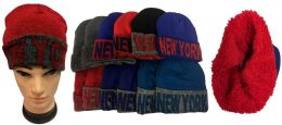 "36 Units of ""New York"" Plush Lining Winter Hat - Winter Beanie Hats"