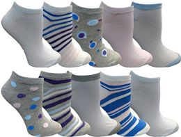 Yacht&smith 10 Pairs Womens Low Cut Ankle Socks, Cute Patterned Design (patterned l) - Womens Ankle Sock