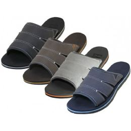 36 Units of Men's Soft Insole Slide Sandals - Men's Slippers
