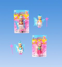 144 Units of Mini Fairy Doll In Blister Card - Dolls