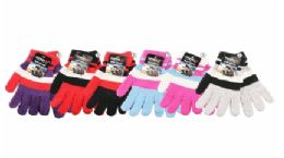 36 Units of Womens Assorted Printed Warm Knit Glove - Knitted Stretch Gloves