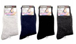 36 Units of Womens Warm Winter Wool Thermal Socks, Size 9-11 - Womens Thermal Socks
