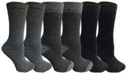 Yacht&smith 6 Pairs Womens Boot Socks, Thick Warm Winter Crew Sock (6 Pairs, Assorted e) - Womens Crew Sock