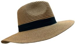 20 Units of 20 Pieces Of Yacht & Smith Floppy Stylish Sun Hats Bow And Leather Design, Style B - Khaki - Sun Hats