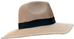 20 Units of 20 Pieces of Yacht & Smith Floppy Stylish Sun Hats Bow and Leather Design, Style B - Rose - Sun Hats