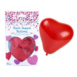 48 Units of Balloons Heart Shape Latex - Valentine Decorations
