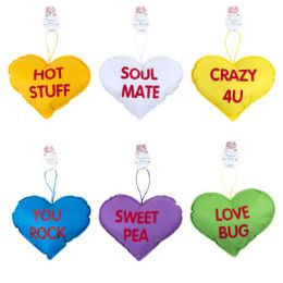 96 Units of Conversation Heart Pillow - Valentine Decorations