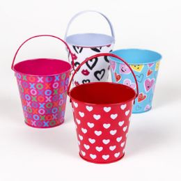 36 Units of Pail Mini Valentine With Handle - Valentine Gift Bag's