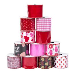 48 Units of Ribbon Wire Valentine - Valentine Gift Bag's