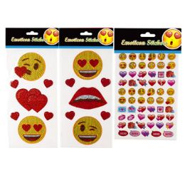 48 Units of Stickers Emoticon - Valentine Decorations