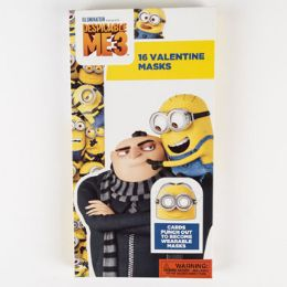 28 Units of Valentine Cards 16ct Despicable Me3 W/masks - Valentine Gift Bag's