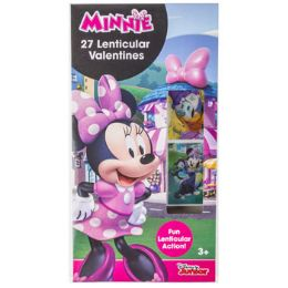 28 Units of Valentine Cards 27ct Minnie Mouse Lenticular Stickers *2.99* - Valentine Gift Bag's