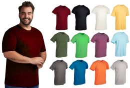 36 Units of Mens Cotton Short Sleeve T Shirts Mix Colors Size 2XL - Mens T-Shirts