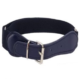 72 Units of Kids Belt Stretchable In Blue - Kid Belts