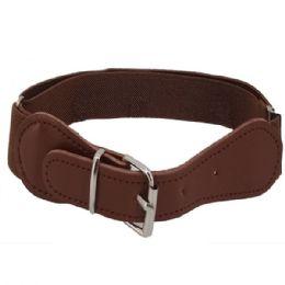 72 Units of Kids Belt Stretchable In Brown - Kid Belts
