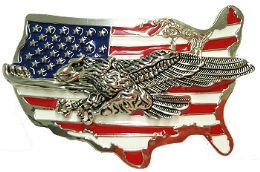 24 Units of Eagle Mens Belt Buckle - Mens Belts