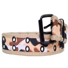 36 Units of Mens Camo Belt In Beige - Mens Belts