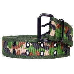 36 Units of Mens Camo Belt In Green - Mens Belts