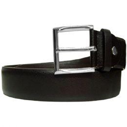 36 Units of Men's Genuine Leather Belt In Black - Mens Belts