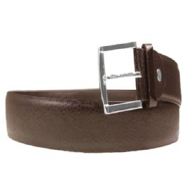 36 Units of Mens Pebble Dress Belt In Brown - Mens Belts