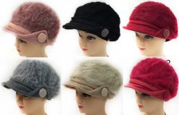 36 Units of Faux Rabbit Fur Lady's Winter Hats - Fashion Winter Hats