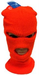 48 Units of Orange Color Ski Mask - Unisex Ski Masks