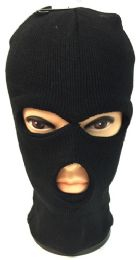 36 Units of Unisex Ski Hat/Mask Black Color - Unisex Ski Masks