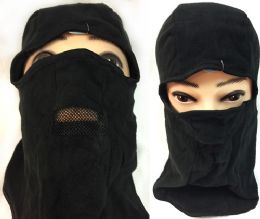 36 Units of Unisex Black Ski Hat/Mask Mesh Mouth Cover - Unisex Ski Masks