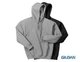30 Units of Gildan Mens Assorted Dark Irregular Fleece Hoodie Size -L - Mens Sweat Shirt