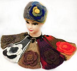36 Units of Tie Dye Effect Multicolored Flower Headbands - Headbands