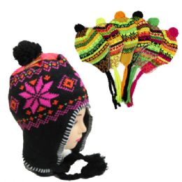 36 Units of Neon Design Winter Hat in Assorted Colors - Winter Hats