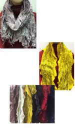 24 Units of Women's Winter Scarf in Assorted Colors - Womens Fashion Scarves