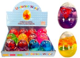 72 Units of Mesh Squish Ball with Water Beads Under Sea Animals - Slime & Squishees