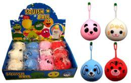 72 Units of Animal Face Puffer Ball Yo Yo Ball - Slime & Squishees