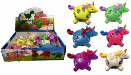72 Units of Mesh Squish Ball with Water Beads Unicorn - Slime & Squishees