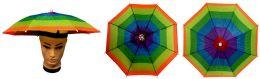36 Units of Umbrella Hats Assorted Colors Foldable - Umbrellas & Rain Gear