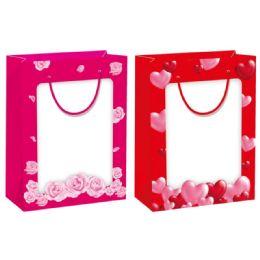 48 Units of Valentines Day Bag Window Bag Medium - Valentine Gift Bag's