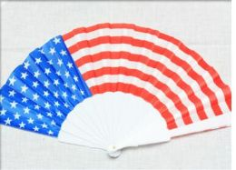 96 Units of American Flag Fan - Novelty Toys