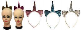 72 Units of Sequins Unicorn Hair Band - Headbands