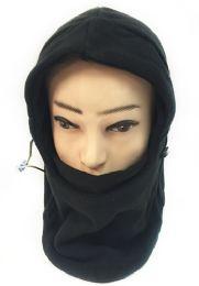 24 Units of Winter Hat Scarf Fleece Ski Mask Head Cover Black Color - Winter Hats
