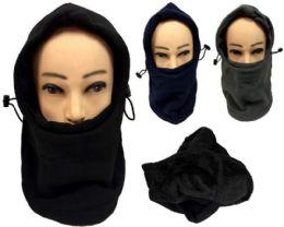 24 Units of Winter Hat Scarf Fleece Ski Mask Head Cover - Winter Hats