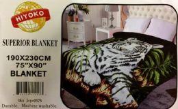 4 Units of Hiyoko Blanket Queen White Tiger - Fleece & Sherpa Blankets