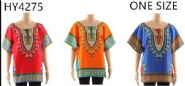 12 Units of African Culture Dashiki Assorted - Womens Fashion Tops