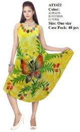 48 Units of Hand Painted Butterfly Umbrella Dresses - Womens Sundresses & Fashion