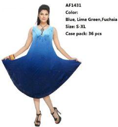 36 Units of Rayon Ombre Dye Umbrella Dresses - Womens Sundresses & Fashion