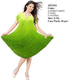 36 Units of Ombre Dye Umbrella Dresses Assorted - Womens Sundresses & Fashion