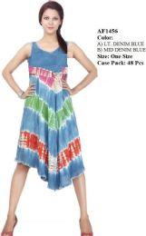 48 Units of Enzyme Denim Wash Rayon Umbrella Dresses - Womens Sundresses & Fashion
